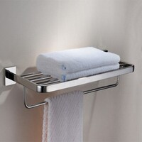 Stainless Steel T6 Towel Rack with Shelf