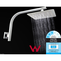 Ultra-Thin Rainfall Shower Head with Gooseneck Arm