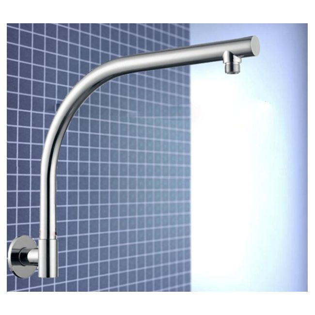 Wall Mounted Gooseneck Swivel Shower Arm 407mm   Buy Shower Heads & Arms