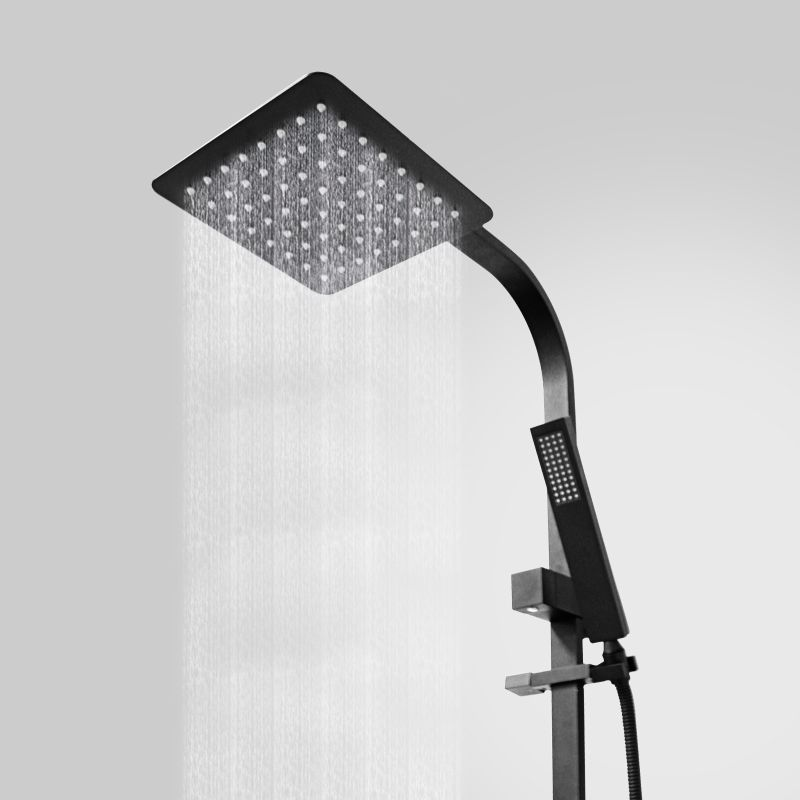 8in Rainfall Shower Set W Handheld Head Matte Black Buy