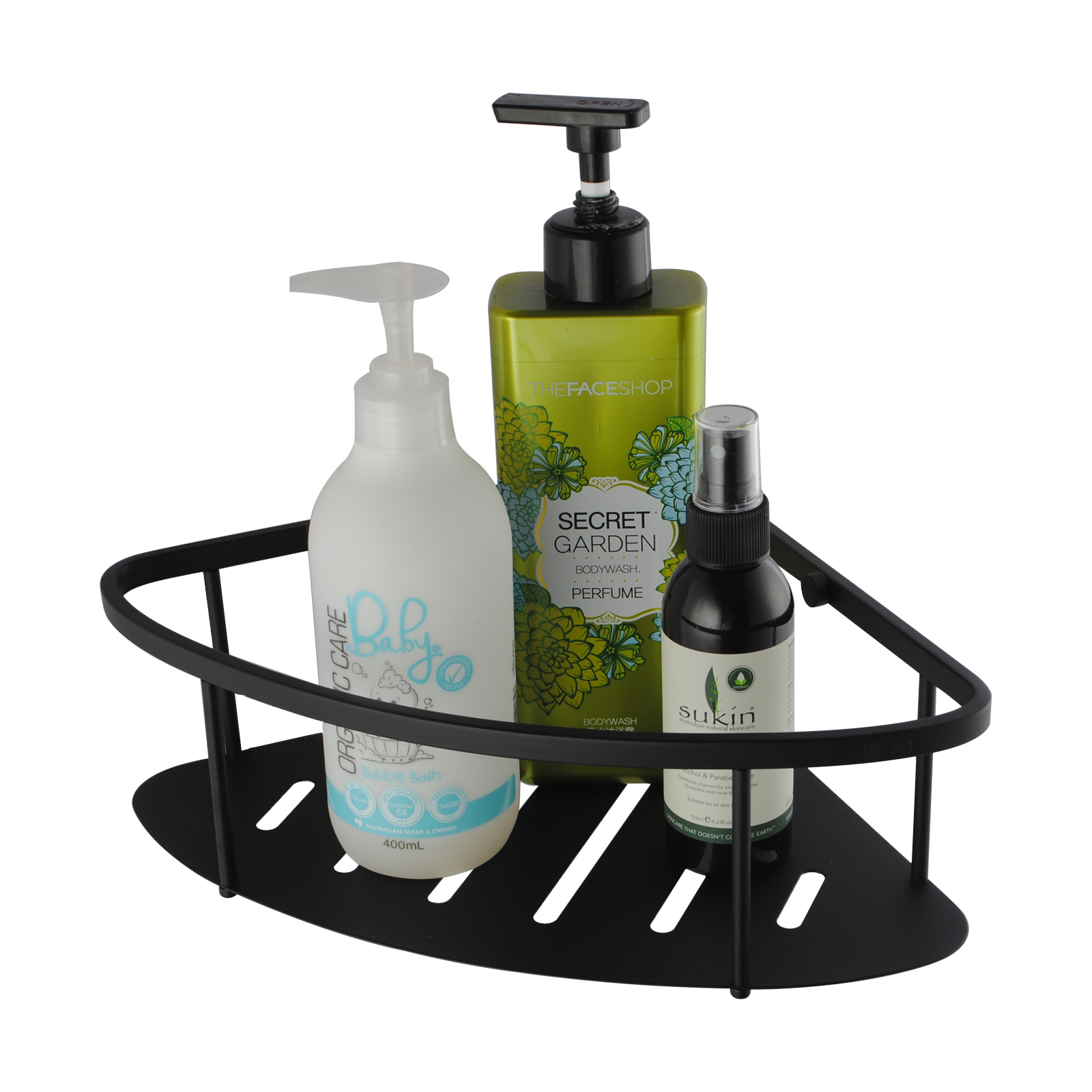 Matte Black Stainless Steel Shower Caddy Shelf | Buy Shower & Bath ...