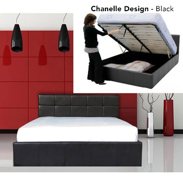 Gas Lift PU Leather Bed Frame W Storage In 4 Sizes Buy