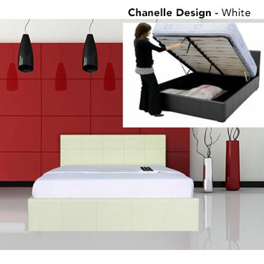 4c7ffd6440d6 h m s Remaining. Westminster Gas Lift PU Leather Bed Frame w  Storage in 4  Sizes