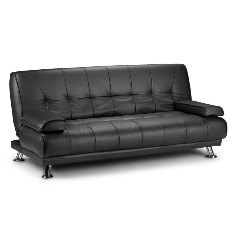 Westminster Futon Style Pu Leather Lounge Sofa Bed In