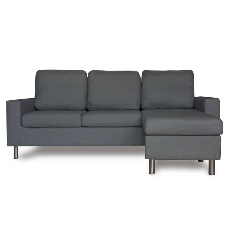 3 seater couch w chaise lounge or ottoman in grey buy sofas for 1 seater chaise lounge