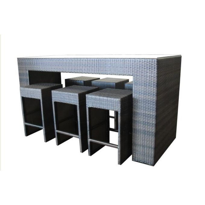 Wicker Outdoor Bar Table Setting with 6 Bar Stools Buy  : BARI01 from www.mydeal.com.au size 680 x 680 jpeg 42kB