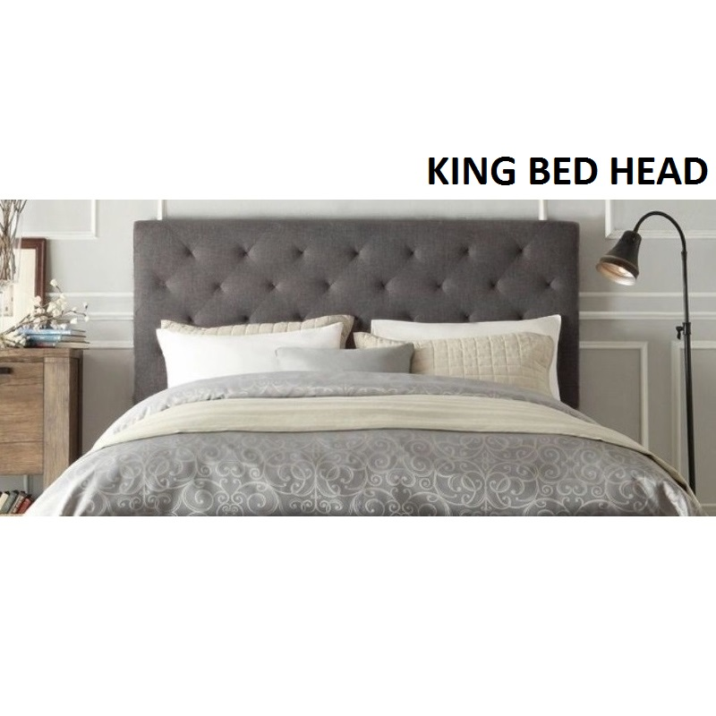 windsor king size fabric bed head headboard in grey buy king size headboard 180048. Black Bedroom Furniture Sets. Home Design Ideas