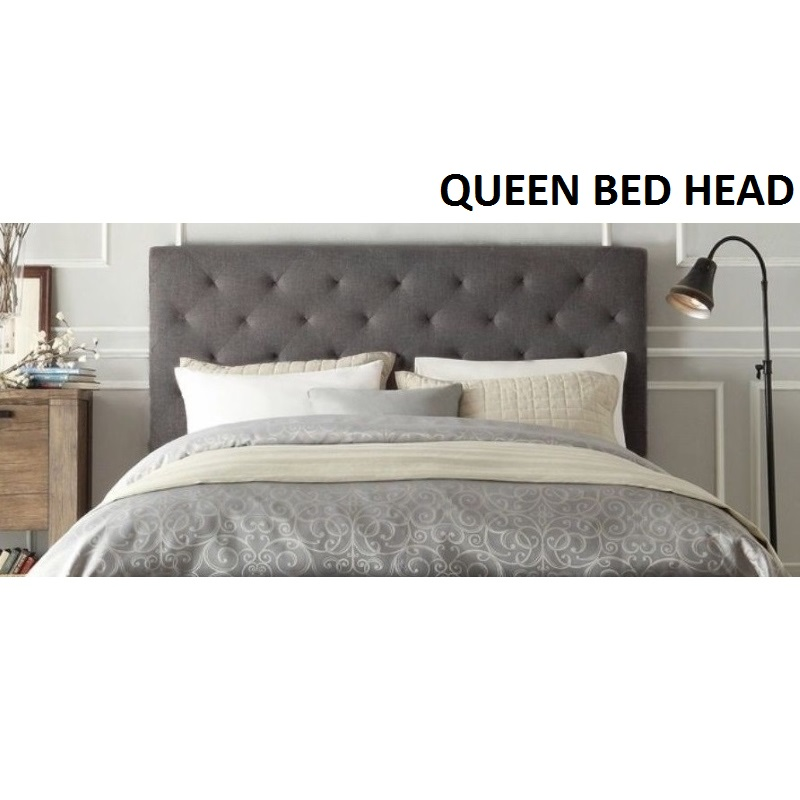 upholstered low gray headboard com profile bed francisco ac furniture frame bedframe queen amazon dp linen platform footboards san