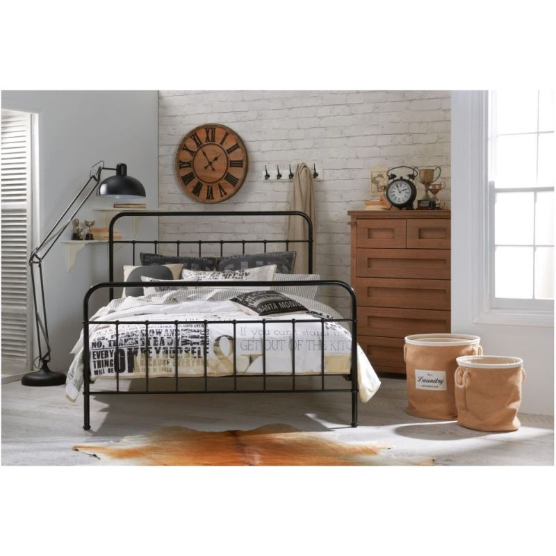 jessica king size metal bed frame in black