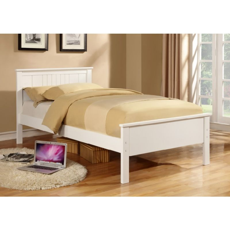Northumberland King Single Size Wooden Bed Frame In White