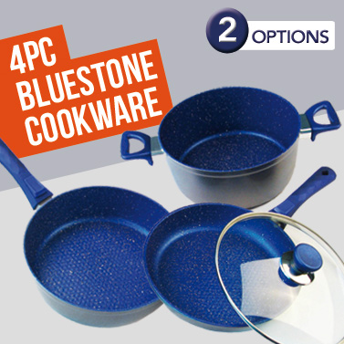 Blue Stone Non Stick Cookware 4 Piece Pot Amp Pan Set Buy