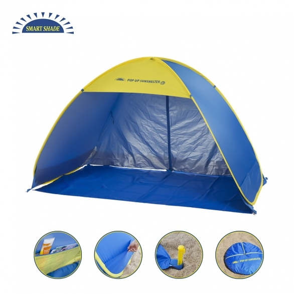 h m s Remaining  sc 1 st  MyDeal & Smart Shade Family Pop-up Sunshelter Blue u0026 Yellow | Buy Beach Tents