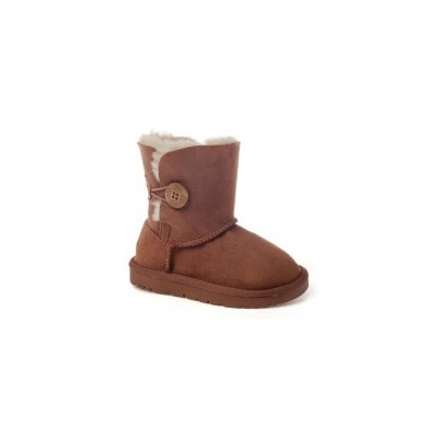 OzWear Kid's Genuine Sheepskin Button UGG Boots