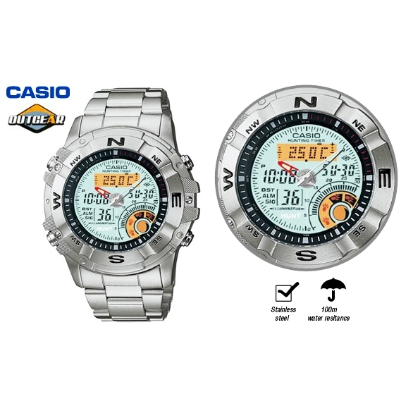 Casio outdoor sports fishing hunting mens watch buy men for Casio fishing watch