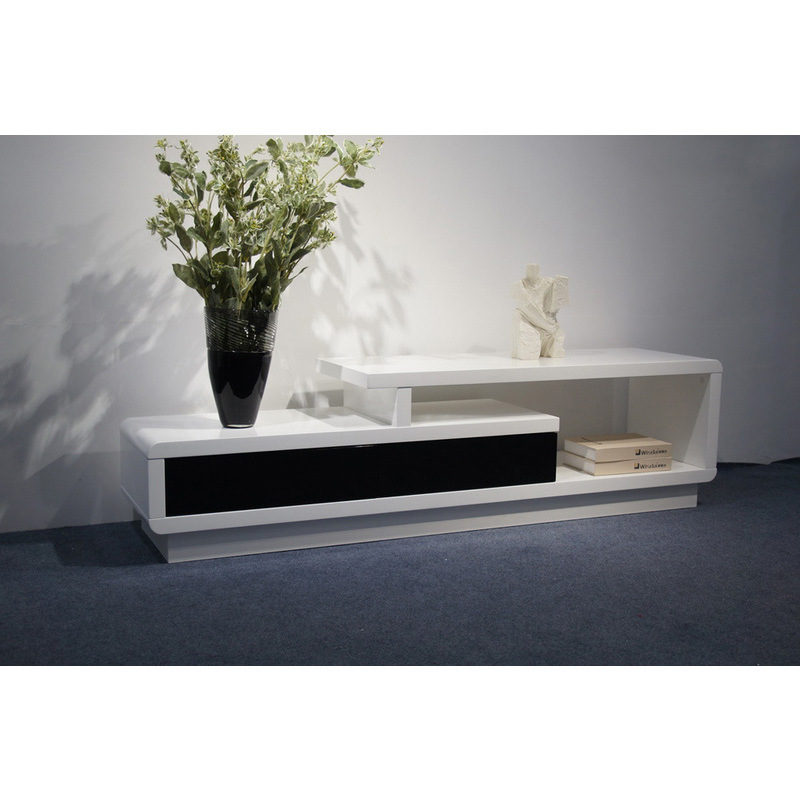 Multi Level Mdf Tv Stand Unit In Black Amp White Buy