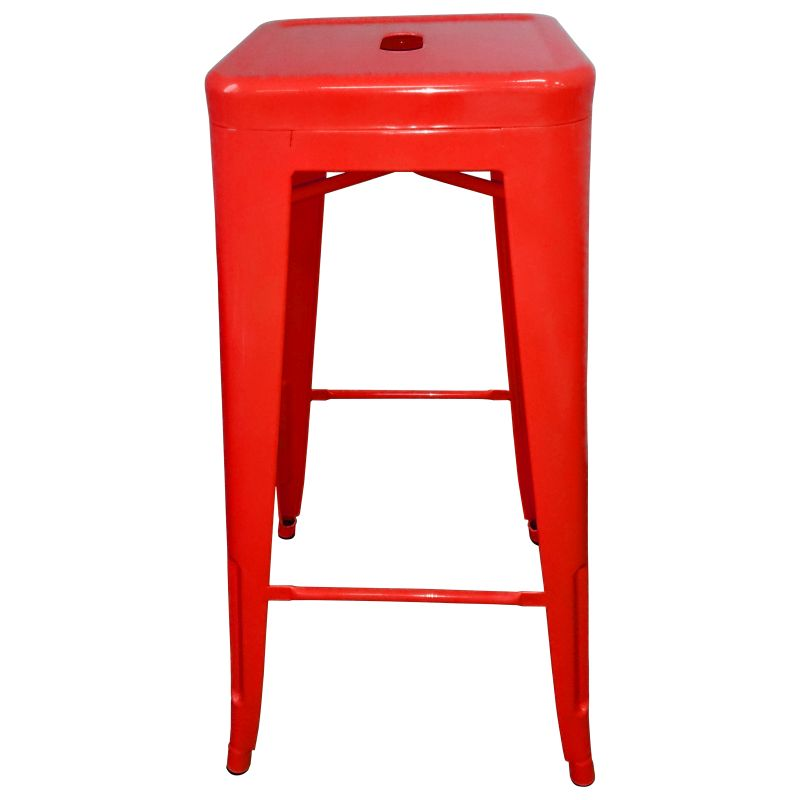 4x Replica Tolix Coated Steel Bar Stool In Red 76cm Buy Sets Of 4