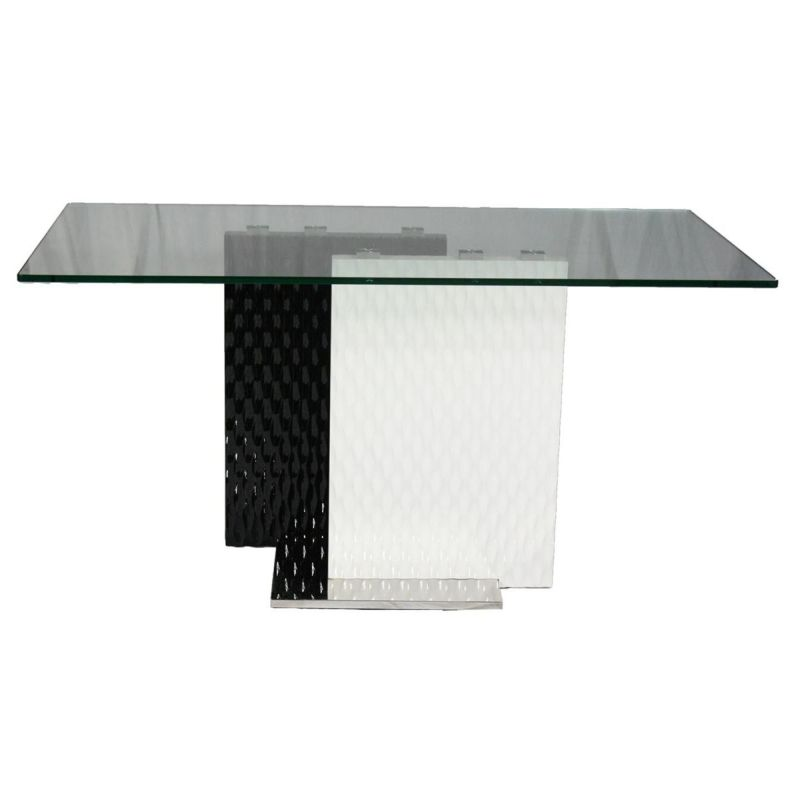 Z Tempered Glass Mdf Coffee Table Black White 120cm Buy Coffee Tables