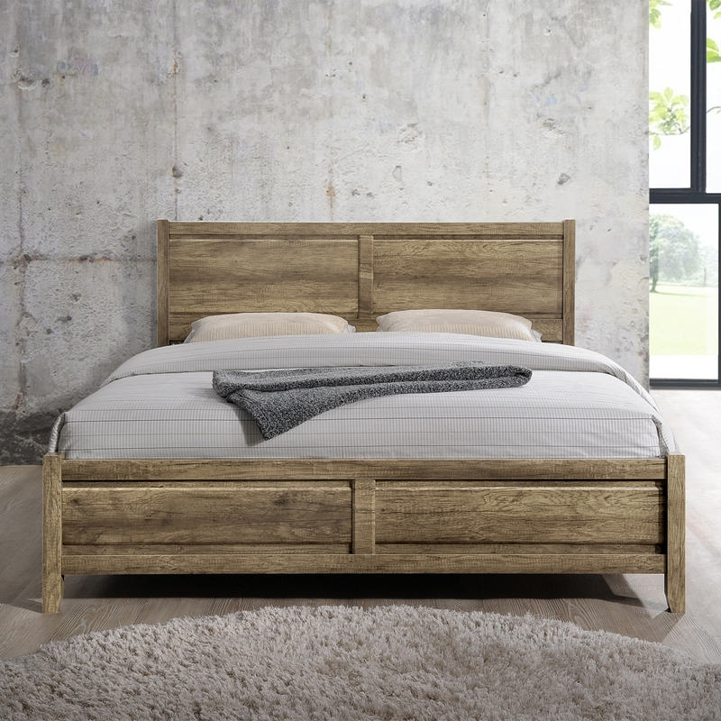 283 Best Images About Fabric Bed Headboards On Pinterest: Alice Queen Size Modern Bed Frame In Oak Tone