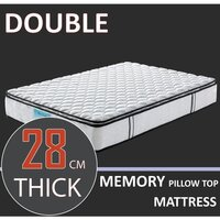 Double Memory Foam Pocket Spring Pillow Mattress