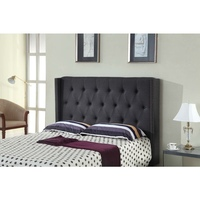 Milano Queen Size MDF Fabric Bed Headboard Charcoal