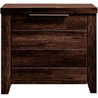 Alice Rustic Bedside Table w/ 2 Drawers Wenge Tone
