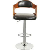 Brisbane Bentwood Gas Lift PU Leather Bar Stool