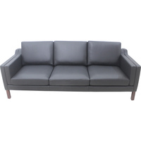 Replica Morgensen 3 Seater Leather Sofa in Black