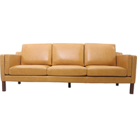 Replica Morgensen 3 Seater Leather Sofa in Tan
