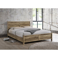 Alice King Size Modern MDF Bed Frame in Oak Tone