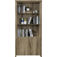 Alice MDF Wood Open Shelf Bookcase in Oak 190cm