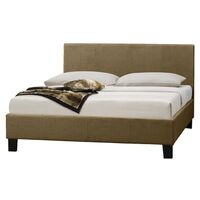 Mondeo Queen Size Linen Fabric Bed Frame in Beige