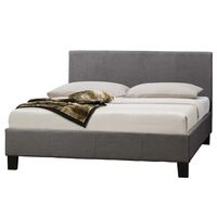 Mondeo Queen Size Linen Fabric Bed Frame in Grey