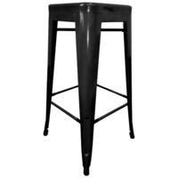 4x Replica Tolix Steel Bar Stools in Black 67cm
