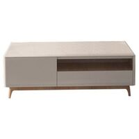 Yarra MDF Coffee Table w/ 2 Drawers in Gloss White
