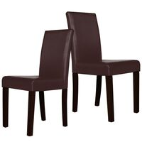 2x Montina PU Leather Modern Dining Chair in Brown