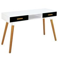 Bistrol MDF 2 Drawer Study Table Work Desk in White