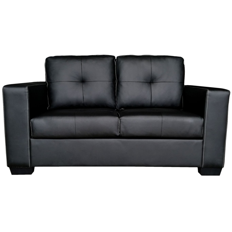 Nikki 2 Seater PU Leather Sofa Couch In Black