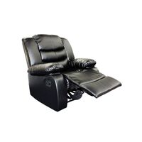 Black Bonded Leather Spring Reclining Chair Lounge
