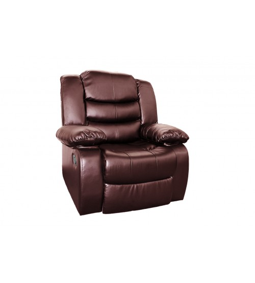 Brown Bonded Leather Spring Reclining Chair Lounge Buy
