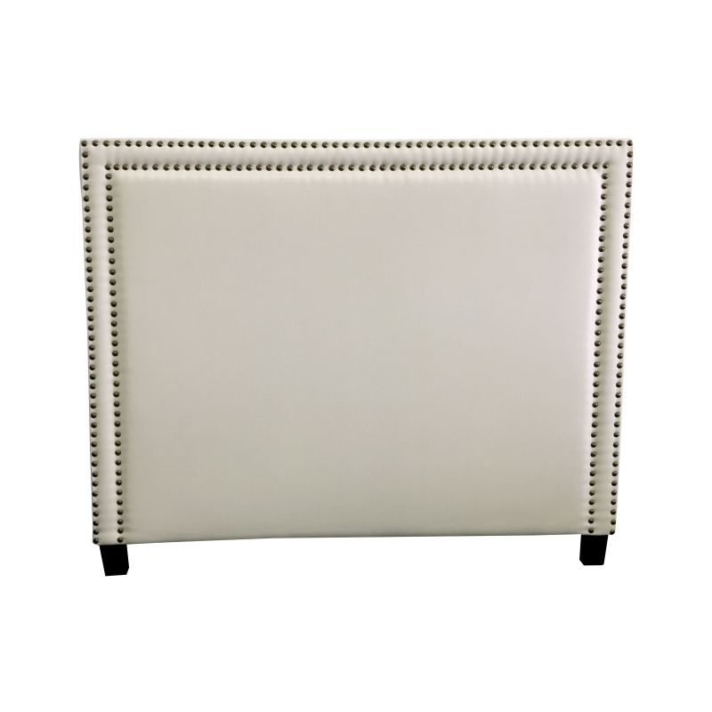 Queen Size Fabric Studded Bed Head Headboard White Buy