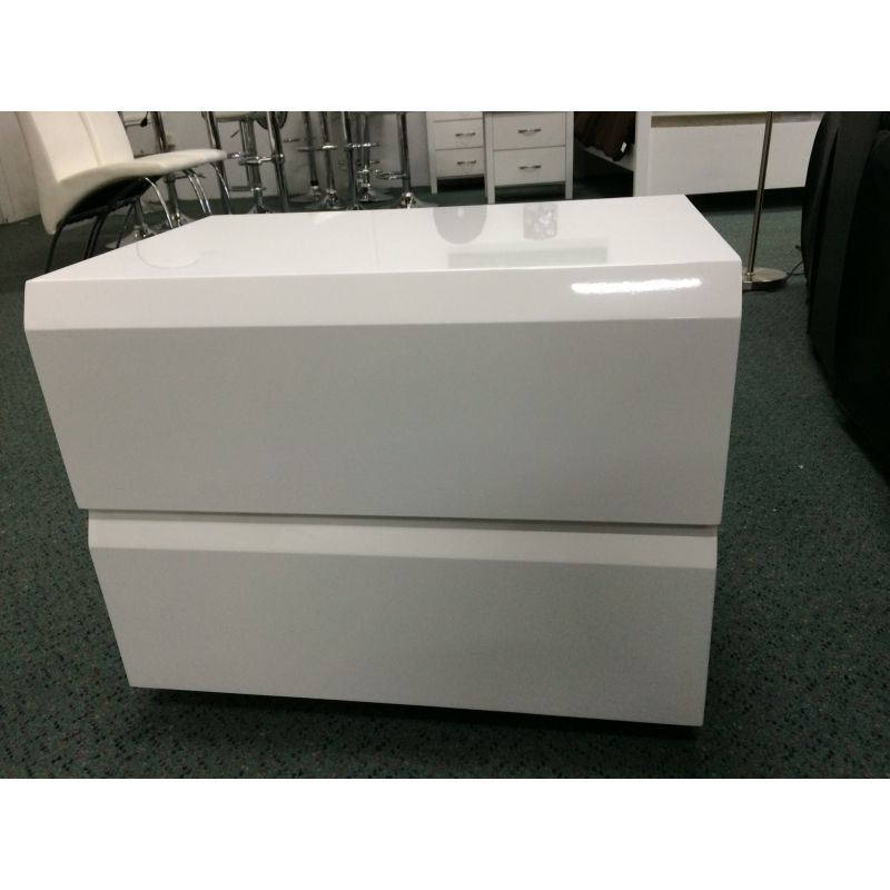 2 drawer handleless bedside table gloss white buy bedside tables 2 drawer handleless bedside table gloss white watchthetrailerfo