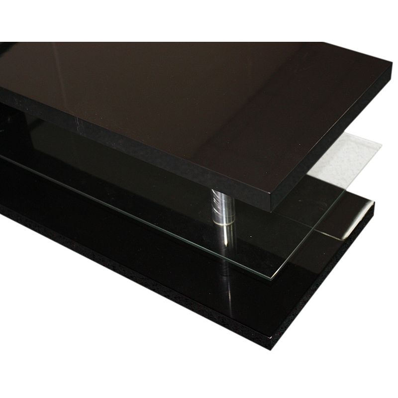 Modern Rectangle Coffee Table In Black Mdf Glass Buy Coffee Tables