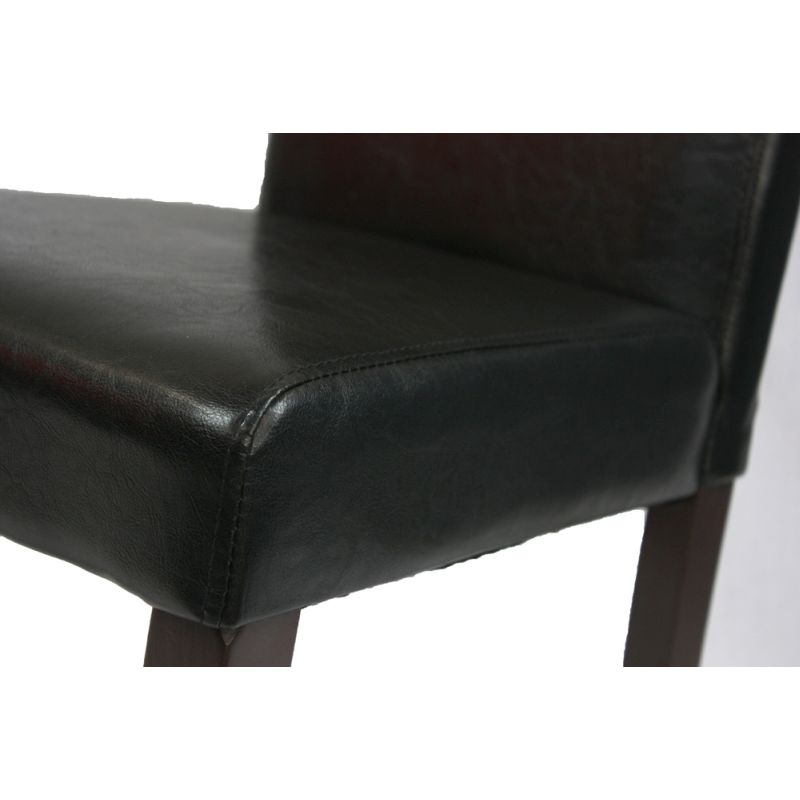 furniture dining chairs sets of 2 2 black faux leather high back