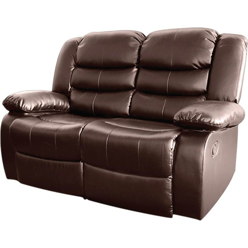 Brown Bonded Leather 2 Seater Recliner Lounge Chair Buy