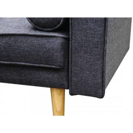 Marcella 3 Seat Futon Sofa Bed in Charcoal Fabric | Buy ...
