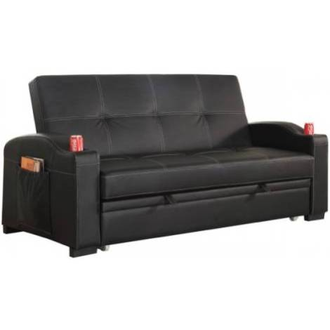 Maple pu leather futon sofa bed with cup holders buy sofa beds Loveseat with cup holders