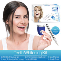 Celebrity White Premium Teeth Whitening Gel Kit System Pearly White Bright Smile