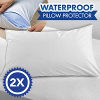 2x Waterproof & Anti-Allergenic Pillow Protectors