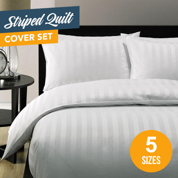 5 star hotel quality striped quilt cover set buy quilt cover