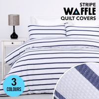 New Season: Designer Waffle Stripe Quilt Covers
